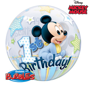 Mickey 1st Bday Bubble