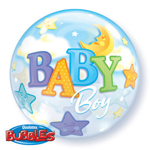 Baby Boy Moon Bubble