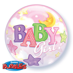 Baby Girl Moon Bubble