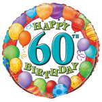 60 Birthday Balloons