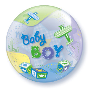 Baby Boy Aeroplanes Bubble