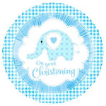 Christening Elephant Blue